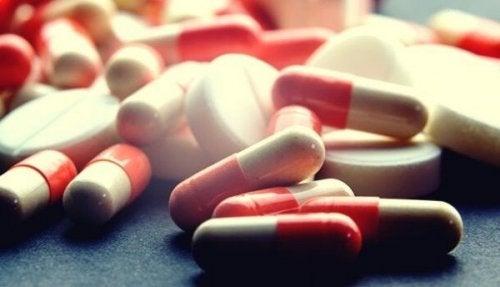 An array of pills.