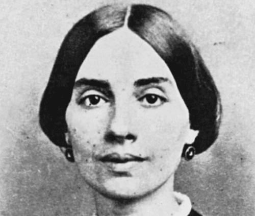 A photograph of Dickinson.