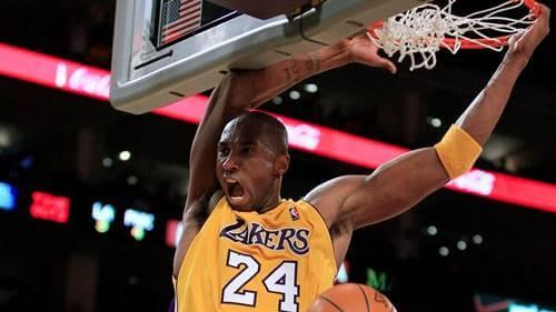 Kobe Bryant playing.