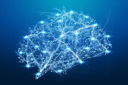 A brain with lights.