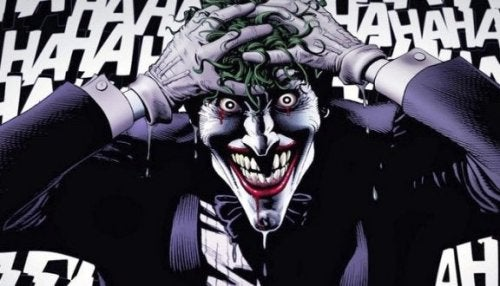 The Joker going mad.