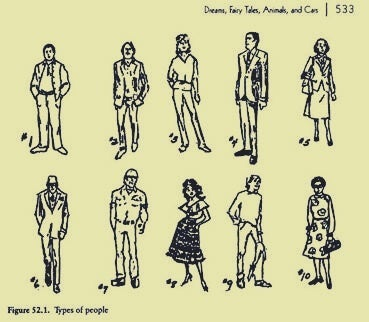 An old image of different types of people.