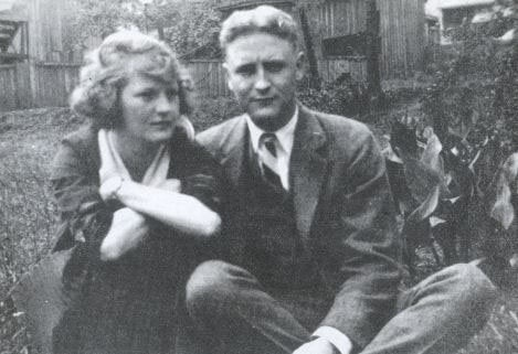 A portrait of Zelda and Francis Scott Fitzgerald.