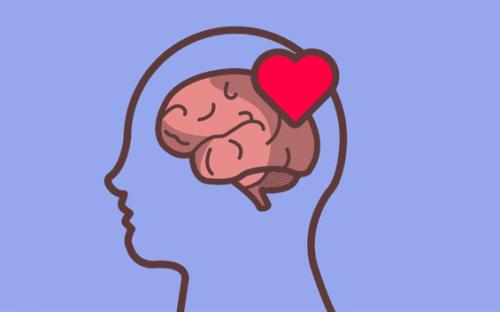 A brain in love.