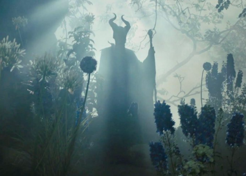 Maleficent in the background.