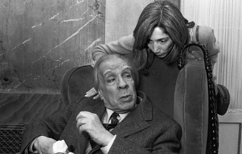Borges and his wife.