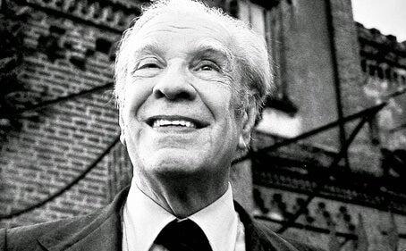 Jorge Luis Borges smiling.