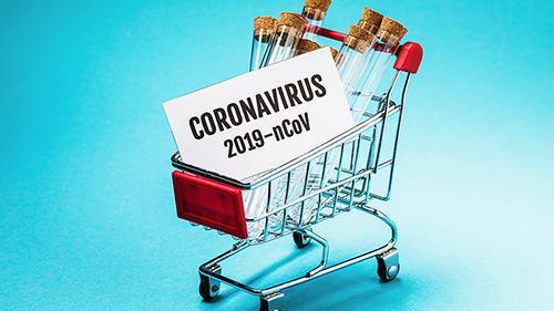 A cart with coronavirus antidote.