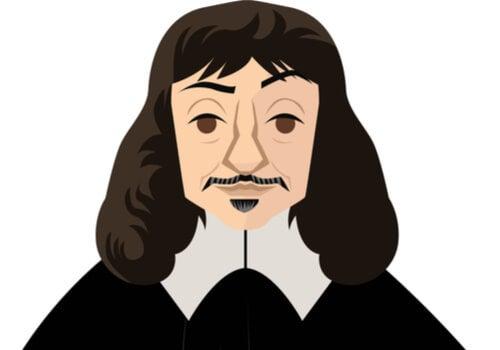 An illustration of René Descartes.