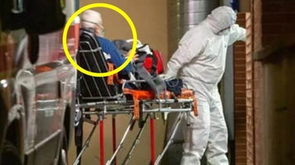 Alberto Belucci going to hospital.