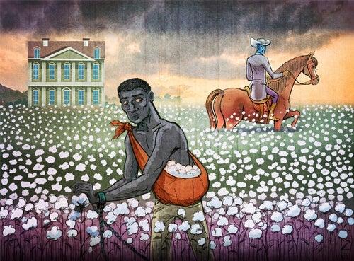 A cotton picker.
