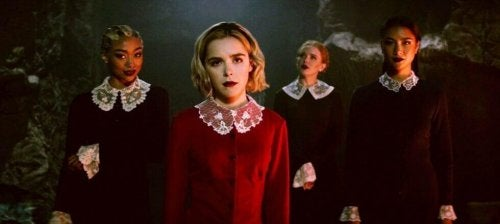 A group of friends in Chilling Adventures of Sabrina.
