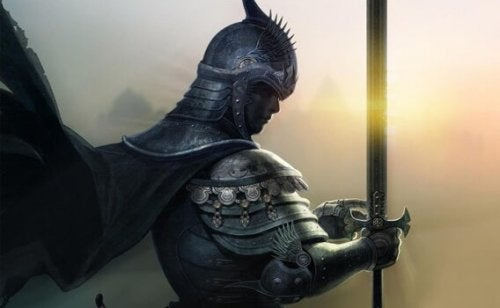 A medieval knight.