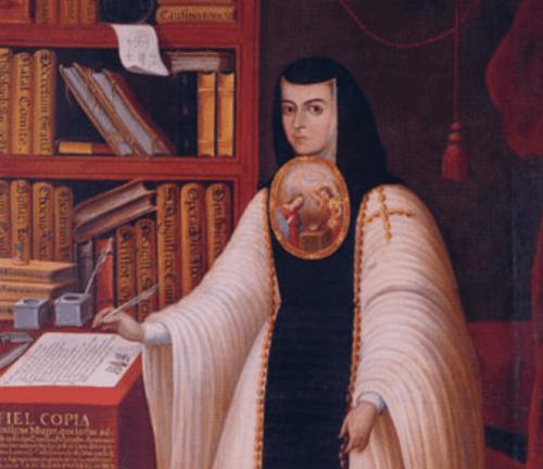 A nun at her desk.