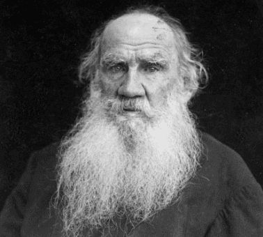 A photograph of Leo Tolstoy.