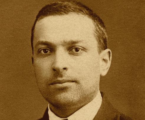 A photograph of Vygotsky.