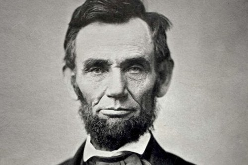 A picture of Abraham Lincoln.