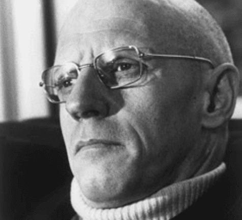 A portrait of Michel Foucault.
