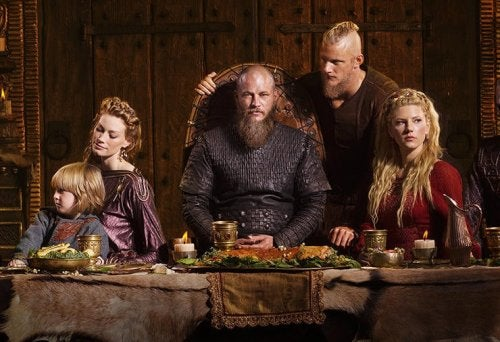 A viking family.