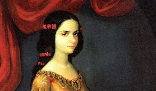 A young Juana de Asbaje.