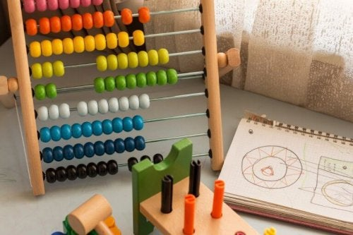 An abacus for doing math.