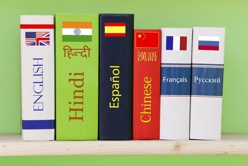 Books in various languages.