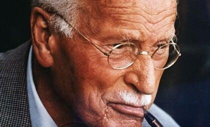 Carl Jung smoking.