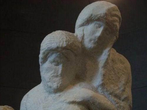 Michelangelo's Rondanini Pietà sculpture.