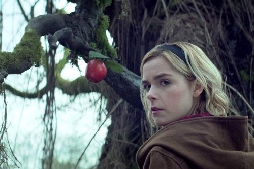 Sabrina in the woods.