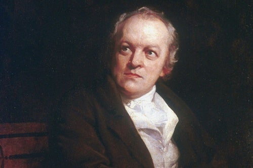 A portrait of William Blake.