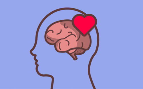 An illustration of the connection between heart and brain.
