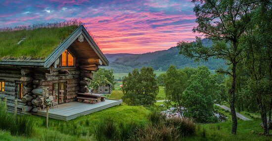 A country cabin.
