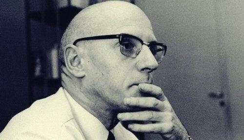 A photo of Michel Foucault thinking about the philosophy of mental illness.