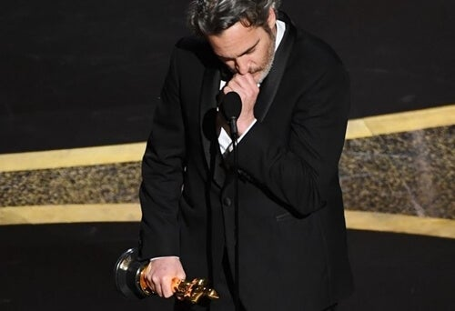 Joaquin Phoenix's speech at the Oscars.