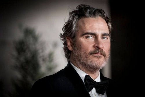A photo of Joaquin Phoenix after the Oscars.