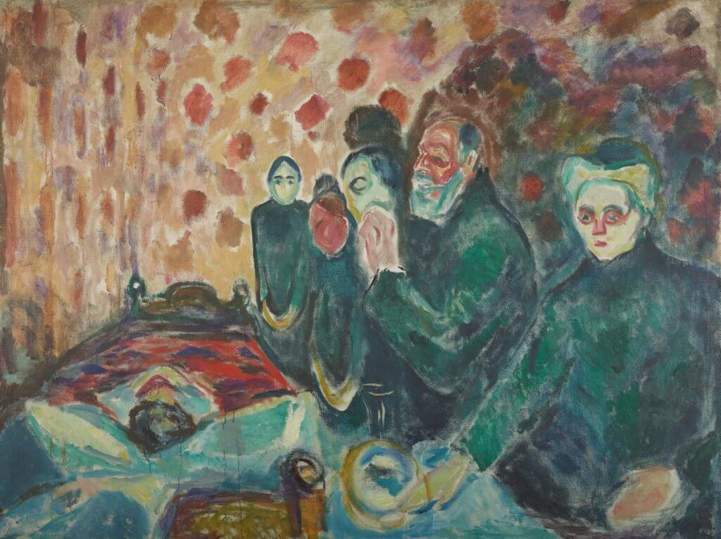 Munch's Death Struggle painting.