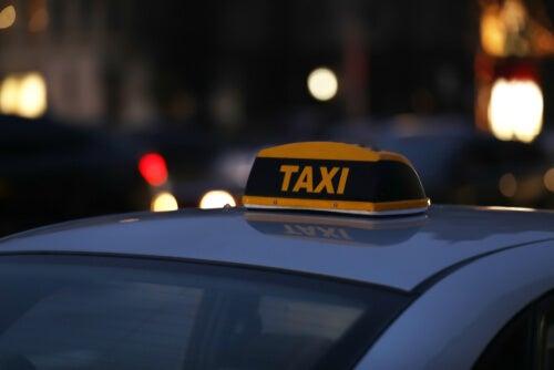 A taxi.