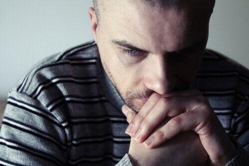 A worried man.