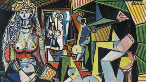 A cubist painting by Picasso.