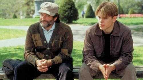 A scene with Robin Williams and Matt Damon.