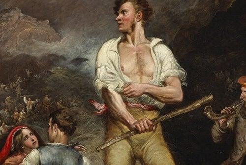 Lord Byron in Greece.