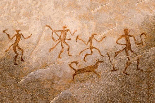 Some cave drawings.