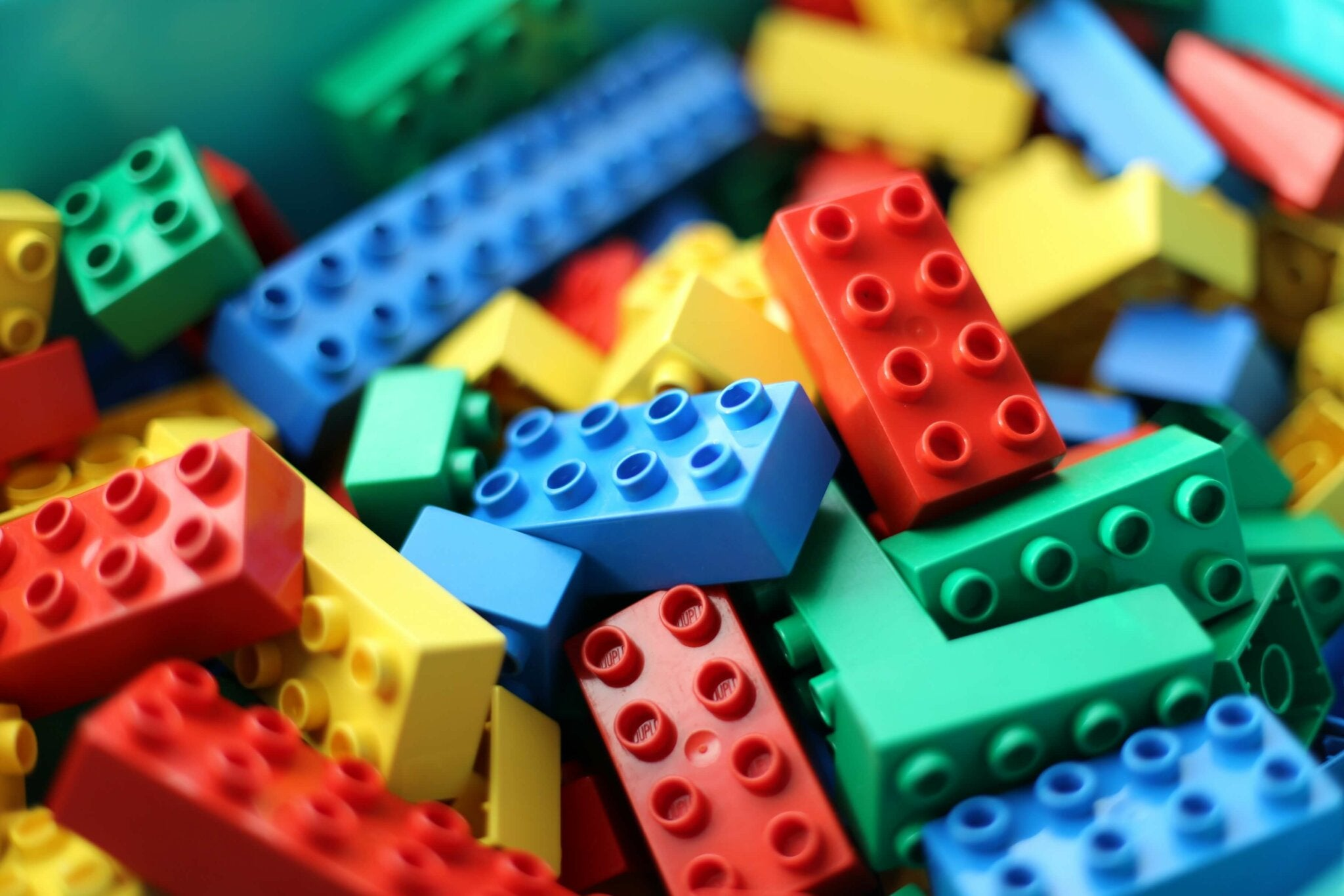 Some Lego bricks.