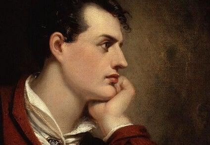 A portrait of Lord Byron.