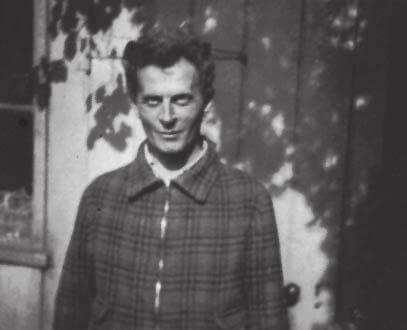 Ludwig Wittgenstein outside.