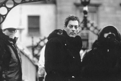 Paul Auster in the street.