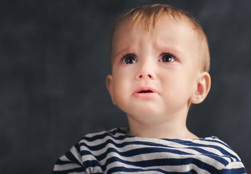 A sad little boy with anaclitic depression.