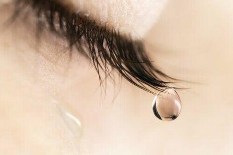 A tear falling.