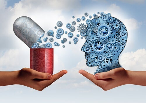 A visual image of how antidepressants work on the brain.