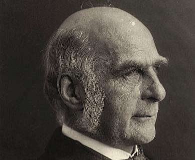 A photograph of Francis Galton.